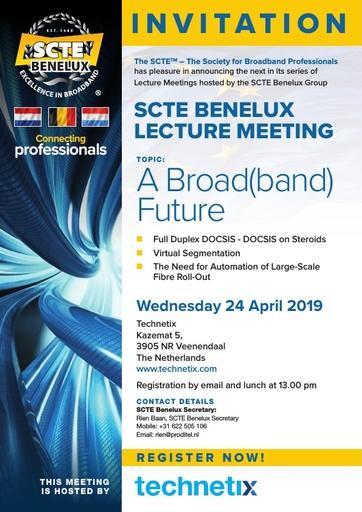 SCTE Benelux Lecture Leaflet