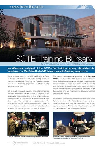 SCTE Training Bursary