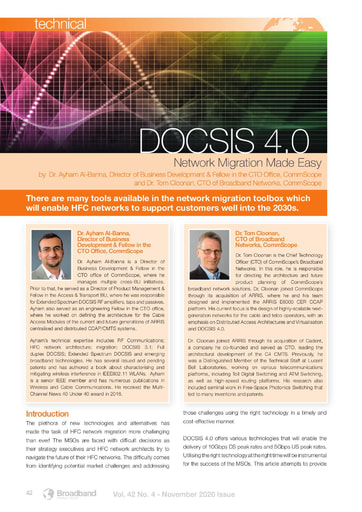 DOCSIS 4.0 Network Migration Made Easy
