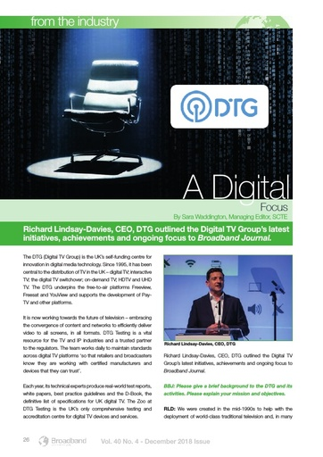 p26 - Industry Profile - Digital TV Group (DTG) - A digital focus