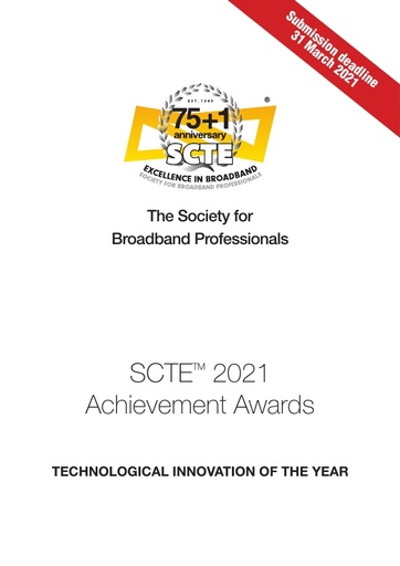 SCTE Technology Innovation Awards Nomination Form 2020