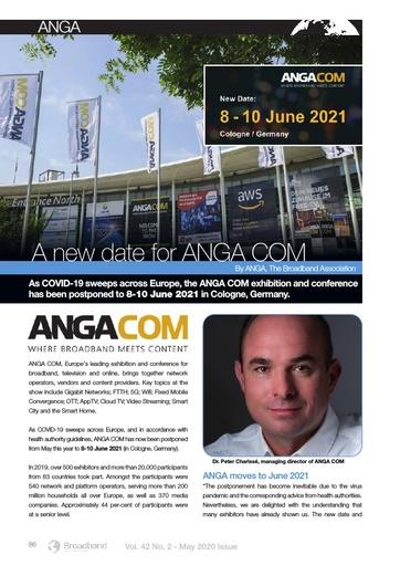 New Date for ANGA COM