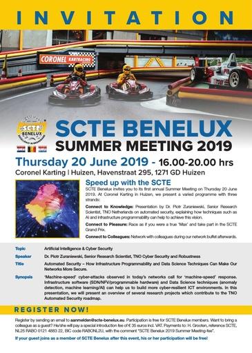SCTE Benelux Summer Lecture Invite