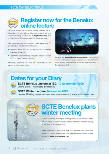 News from the SCTE's Benelux Group