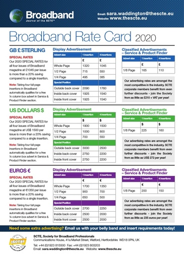 2020 Broadband Journal Rate Card
