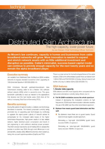 TECHNICAL Distribute Gain Architecture byTechnetix