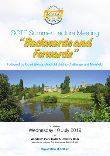 SCTE Summer Lecture Leaflet and Booking Form