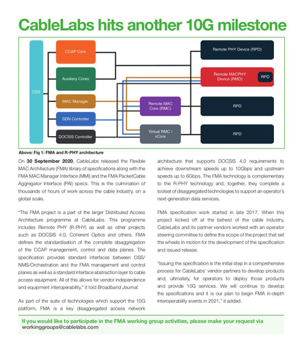 CableLabs hits another 10G milestone