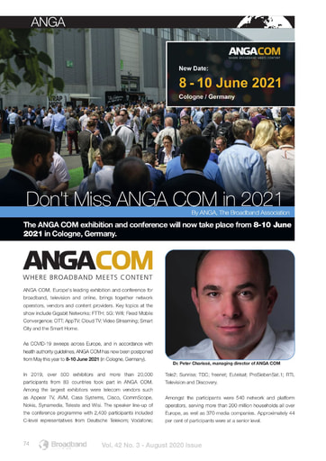 Don't Miss ANGA COM in 2021
