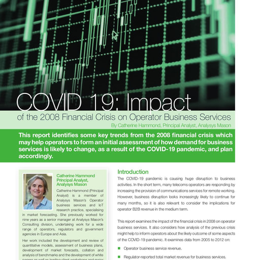 COVID 19: Impact of the 2008 Financial Crisis on Operator Business Services