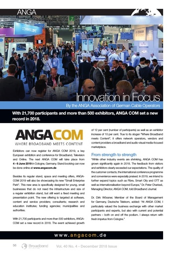 p56 - ANGA Editorial - Innovation in Focus