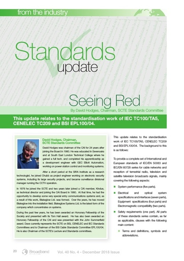 p20 - Industry Standards Update - Seeing Red