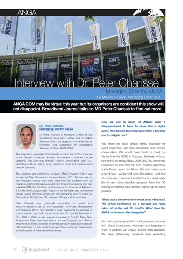 Interview with Peter Charissé, MD of ANGA - By Melissa Cogavin