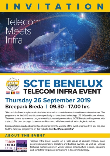 Uitnodiging SCTE Benelux Infra Lecture