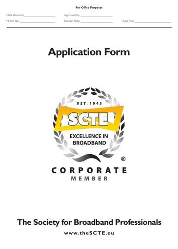 Corporate Membership form