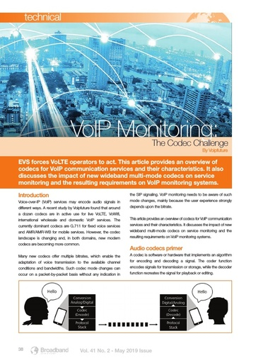 p38 - VOIP Monitoring - the Codec Challenge
