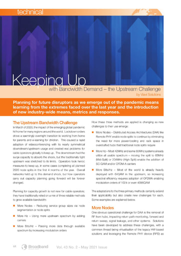 Keeping Up with the Bandwidth Demand - By Viavi Solutions
