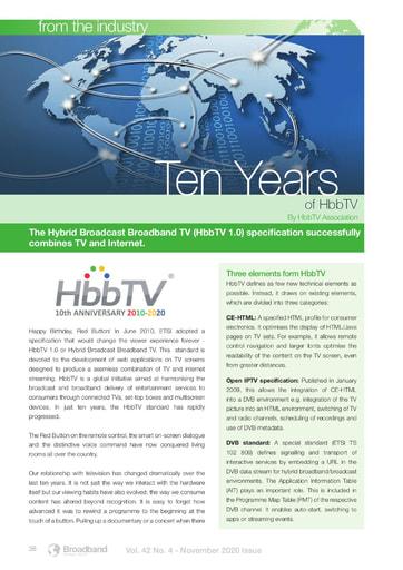 Ten Years of HbbTV