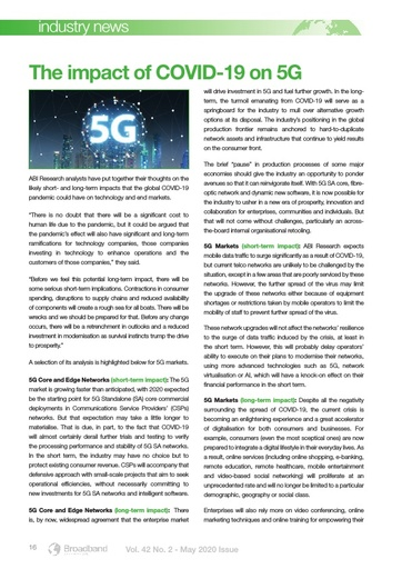 The Impact of COVID-19 on 5G