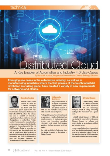 Distributed Cloud - A Key Enabler of Automotive and Industry 4.0 Use Cases