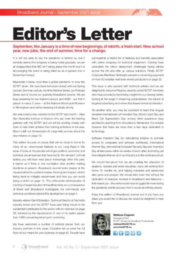 SCTE Editorial
