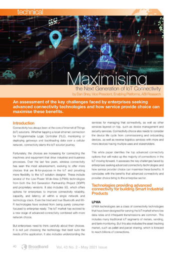 Maximising the Next Generation of IoT Connectivity - By ABI Research