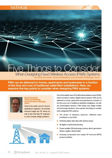 p54 FiveThings to Consider When Designing Fixed Wireless Access (FWA) Systems