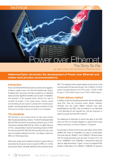 Power over Ethernet – The Story So Far