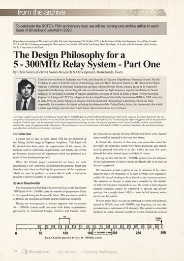 Archive article to celebrate SCTE's 75th anniversary year