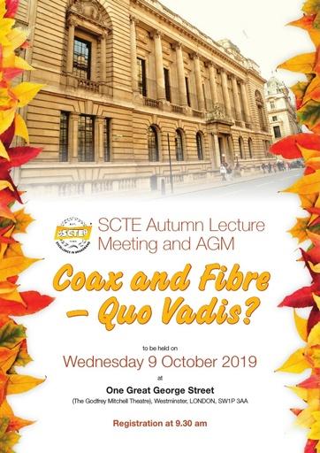 SCTE Autumn Lecture Leaflet 2019