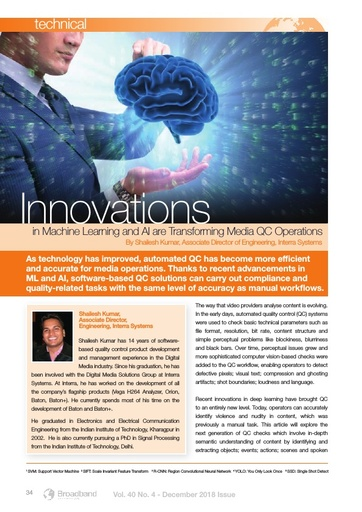 p34 - Innovations in Machine Learning and AI are transforming media QC Operations