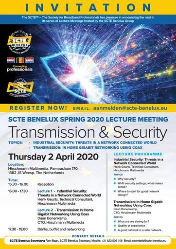 SCTE Benelux Spring Lecture Invite