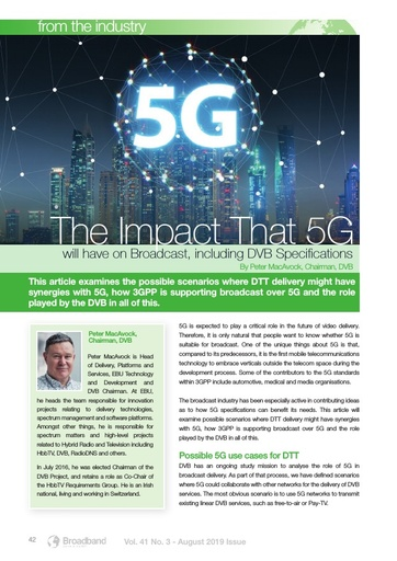 p42 - The Impact that 5G will have on Broadcast, including DVB Specifcations