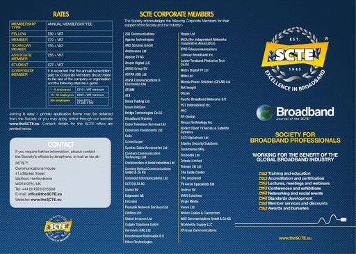 SCTE Membership Leaflet
