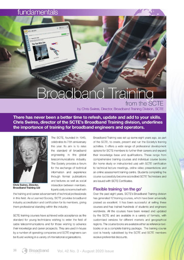 Broadband Training from the SCTE