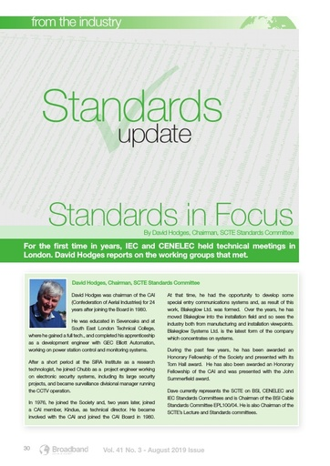 p30 - Standards Update - Standards in Focus
